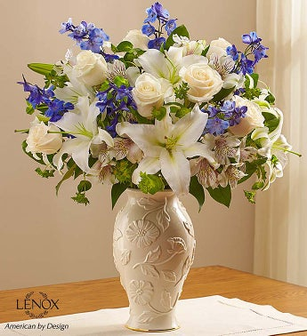 Loving Blooms Lenox Blue & White - Large - 1-800-Flowers
