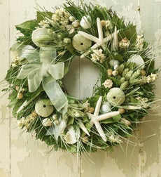 Seaside Wreath - SEASHELL WREATH WITH HANGER