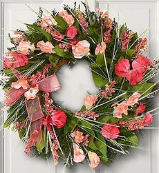 Sweet Pea Wreath - with Gold Wreath Hanger