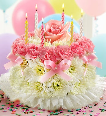 Birthday Flower Cake Pastel - Birthday Flowers For Her