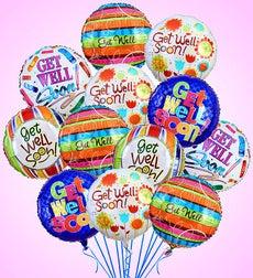 Air-Rangement - Get Well Mylar Balloons - One Dozen Balloons