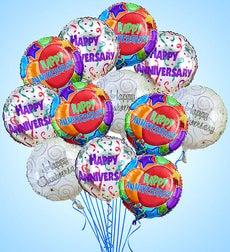 Air-Rangement - Anniversary Mylar Balloons - One Dozen