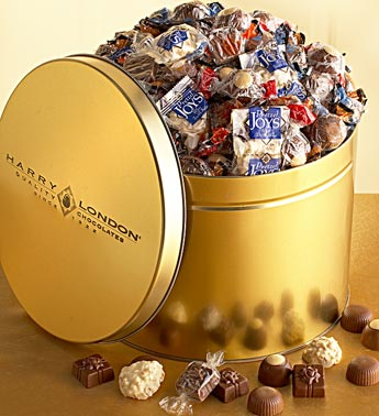 assorted 6lbs of chocolate in tin