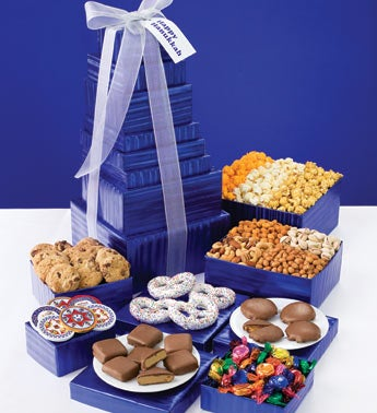 Hanukkah Snacks Gift Basket