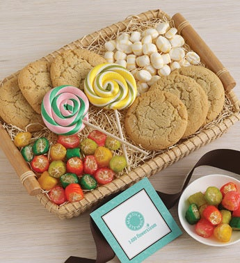 assorted cookies & candy tray