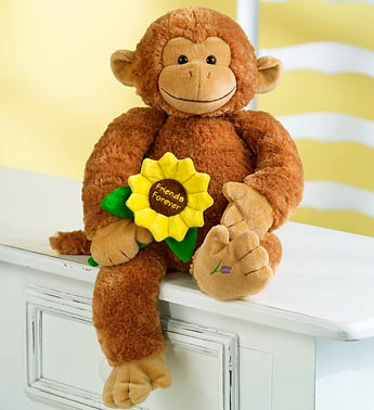 Monkey with Sunflower