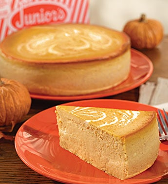 Junior's Pumpkin Swirl Cheesecake