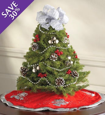 Silver Season Tree with Skirt