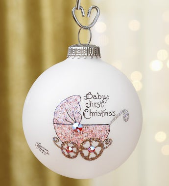 Baby Girl's First Christmas Ornament - Pink
