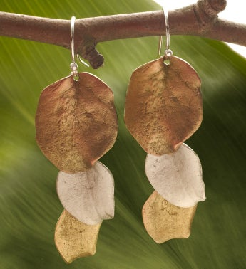 Survivor Tree Two Tone Earrings
