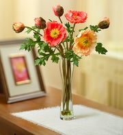 Orange Silk Poppy Arrangement
