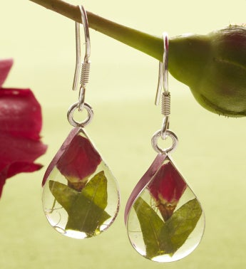 Fresh Rosebud Jewelry Collection - Fresh Rosebud Teardrop Earrings