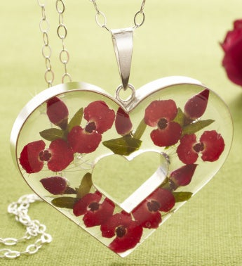 Fresh Rosebud Jewelry Collection - Fresh Rosebud Heart Pendant Necklace