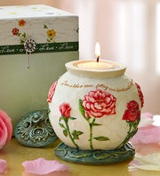 Love Comfort in Bloom Candle Holder