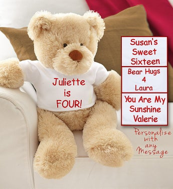 Personalized Birthday Bear with Custom T-Shirt