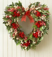 Preserved Heart Wreath - 16""