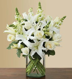 Classic All-White Arrangement - Medium