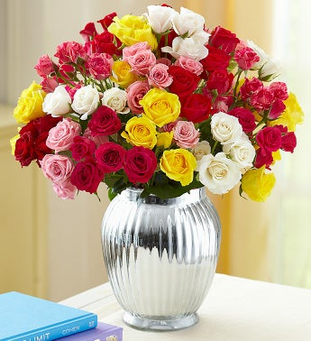 Spray Roses. 50-100 Blooms + Free Vase