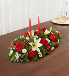 Traditional Christmas Centerpiece - Medium
