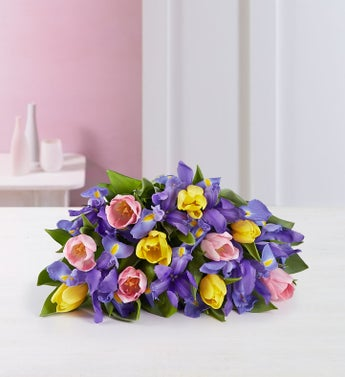 Fanciful Spring Tulip and Iris Bouquet - 1-800-Flowers