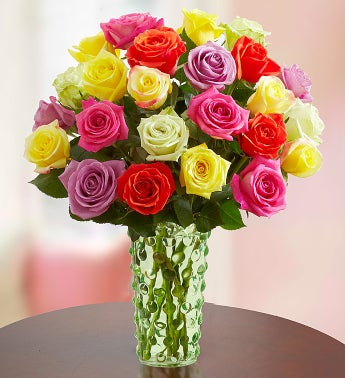 Assorted Roses, Buy 12, Get 12 Free + Free Vase