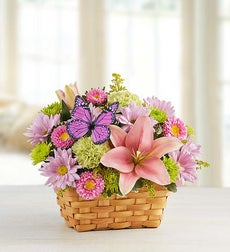 Unique Flower Arrangements on Spring Flower Baskets And Baskets Of Spring Flowers