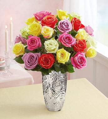 Two Dozen Romantic Roses