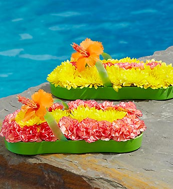 Labor Day Celebration - Fresh Flower Flip Flops