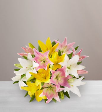 Sweet Spring Lilies - 7 Stems Bouquet Only - 1-800-Flowers