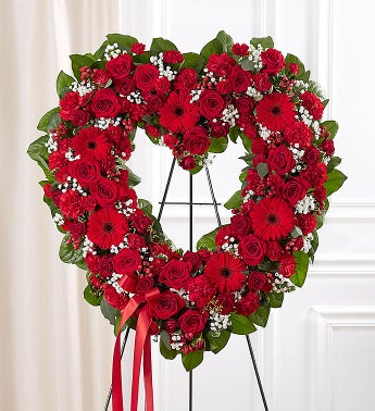 1-800-Flowers.com Always Remember Red Floral Heart Tribute