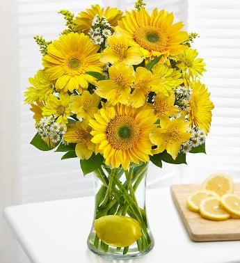 Make Lemonade in a Vase - Large - 1-800-Flowers
