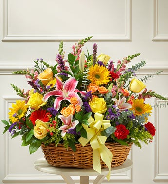 1-800-Flowers.com Bright Flower Sympathy Arrangement in B...