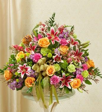 1-800-Flowers.com Pastel Sympathy Basket