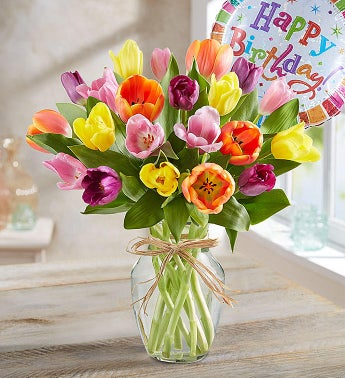 Flower Gift on Timeless Tulips   Happy Birthday From 1 800 Flowers Com