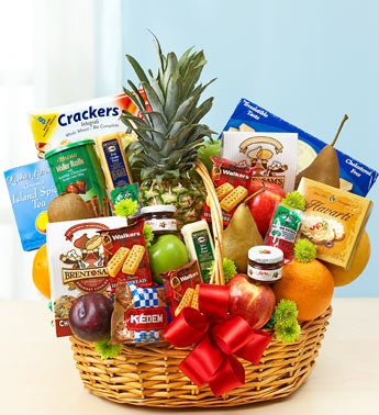 Deluxe Fruit & Gourmet Basket - Large