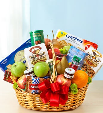 Deluxe Fruit & Gourmet Basket - Medium