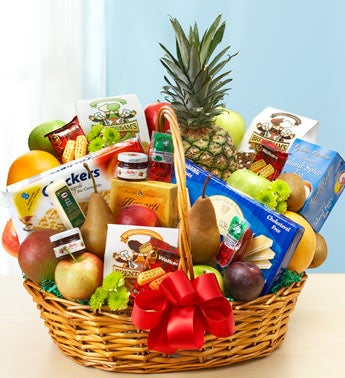 Deluxe Fruit & Gourmet Basket - Extra Large