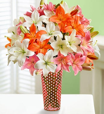 Vibrant Summer Lilies, Buy 25 Blooms, get 25 Free - 1800flowers promotion