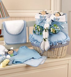 Twice The Fun Twin Boys Newborn Gift Basket