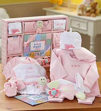 New Baby Girl First Year Gift Set