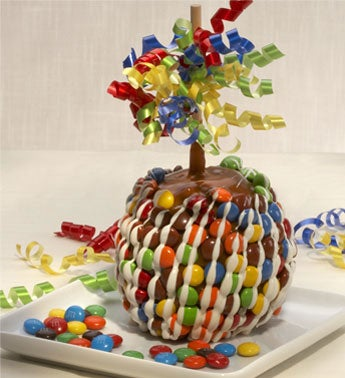 Delightful Caramel Apple with Candies