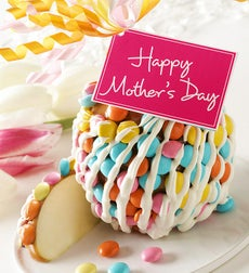 Happy Mother's Day Caramel Apple with Candies - Mother's Day Caramel Apple