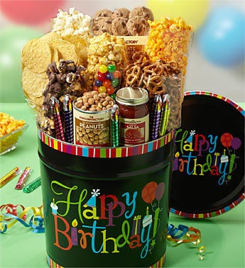 The Popcorn Factory Birthday Wishes Snack Tin