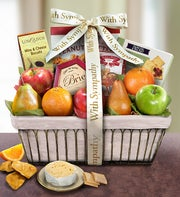 Sympathy Fruit Basket - 1800baskets.com