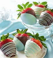 Fannie May Baby Blue Chocolate Strawberries 12ct