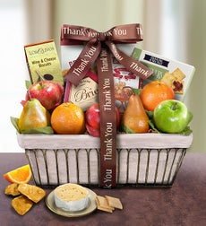 Thank You Gift Basket Parisian Terrace Fruit Basket