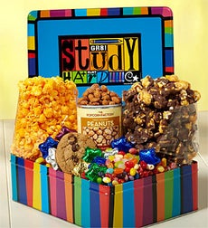 The Popcorn Factory Study Hard Deluxe Tin