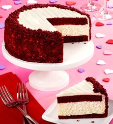 Junior's Red Velvet Cheesecake by 1800Baskets. com - Junior's Red Velvet Cheesecake