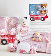 Hello Baby! Boy or Girl Wagon,Bear & Book