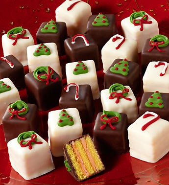 Festive Holiday Petit Fours